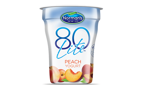 Norman's 80 Lite Peach Yogurt