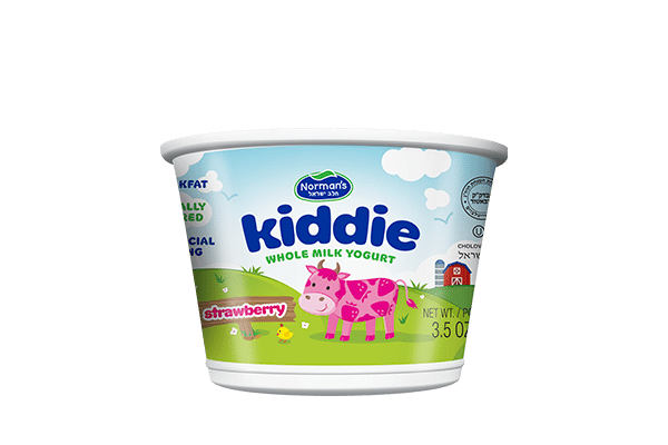 Norman's Kiddie Whole Milk Strawberry Yogurt